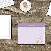 플라워 주간스케줄 메모패드 3 바이올렛 스톡 / 마우스  메모지
