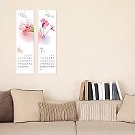 2022 꽃이핀 벽걸이달력/ 12매x 3부 모조지220g(125mmx 450mm)
